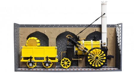 Stephenson's Rocket is one of many Northern innovations which have been immortalised in LEGO form.