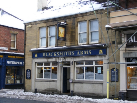 Outside The Blacksmiths' Arms.