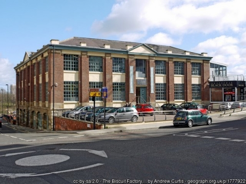Exterior View of The Biscuit Factory.