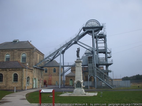 View of Woodhorn, Museum and Northumberland Archive Colliery.