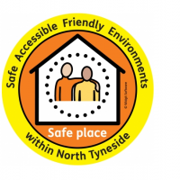 "If you see this logo presented in a North Tyneside organisation, it is a certified ""Safe Place""."
